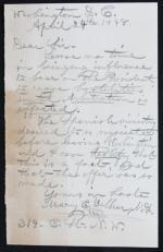 Mary Edwards Walker letter