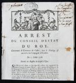Arrest Du Conseil D'Estat Du Roy, Concernant le Commerce du Castor, don't le Privilege est accordé à la Compagnie d'Occident.