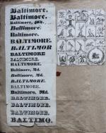 Specimen Book of Baltimore Engraver William Bannerman