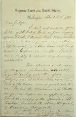 Joseph P. Bradley Letter