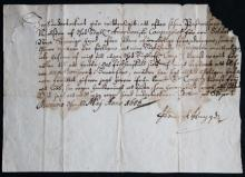 Hendrick Huyghen signed document