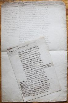 Transfer of the Letters of Nobility of La Salle to His Nephew