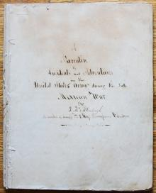 Unpublished Manuscript Narrative of Mexican War Service