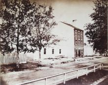 Albumen Photograph of Price, Birch & Co., Slave Dealers, Operators of the Largest Slave Pen in Alexandria, Virginia, 1862